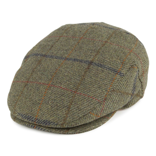 Failsworth Waterproof Tweed Flat Cap Sage